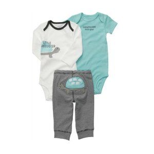 Carter's Baby Boy Turtle 3 Piece Outfit Set